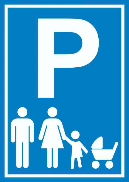 Parkplatz Eltern Kinderwagen Schild