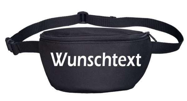 Bauchtasche mit Wunschtext - Blockschrift - bedruckt - Gürteltasche Hipbag