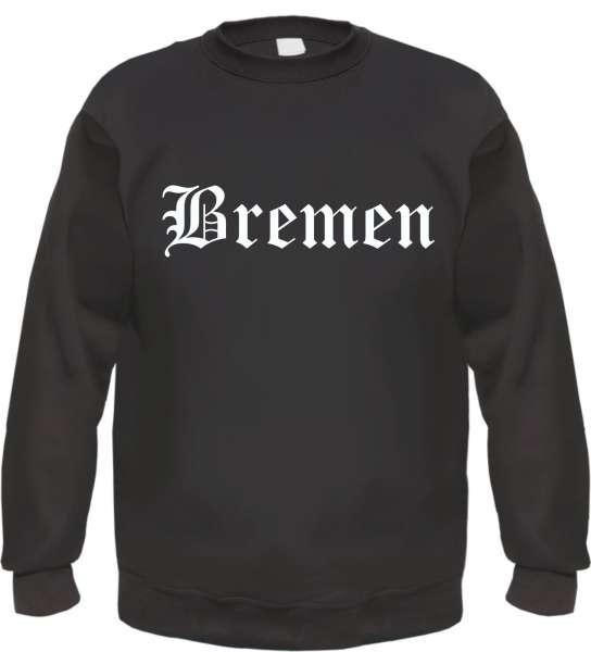 Bremen Sweatshirt - Altdeutsch - bedruckt - Pullover - schwarz -