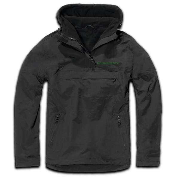 Windbreaker mit Wunschtext - Schreibschrift - bestickt - Winterjacke Jacke Stickfarbe: Grün
