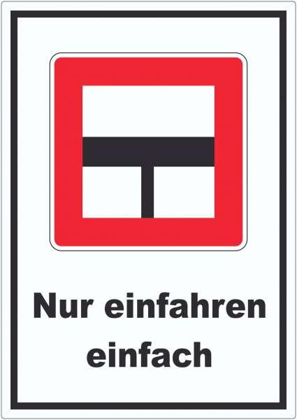 Nur einfahren in die Hauptwasserstraße wenn niemand behindert wird Aufkleber mit Symbol und Text
