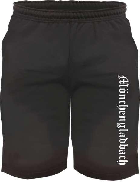Mönchengladbach Sweatshorts - Altdeutsch bedruckt - Kurze Hose Shorts