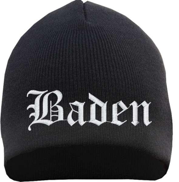 Baden Beanie Mütze - Altdeutsch - Bestickt - Strickmütze Wintermütze