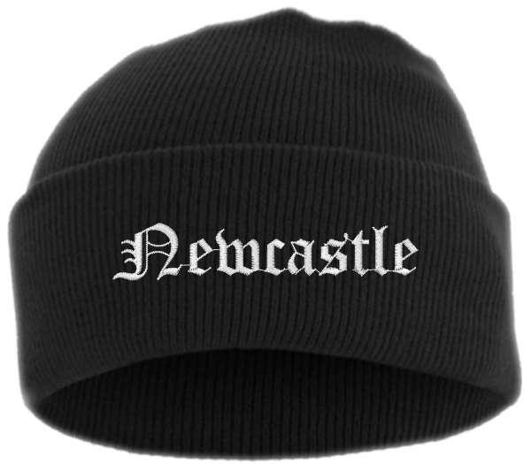 Newcastle Umschlagmütze - Altdeutsch - Bestickt - Mütze mit breitem Umschlag