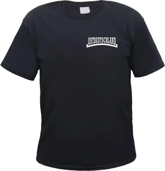 Ostdeutschland T-Shirt - Linie - Brustdruck - Tee Shirt