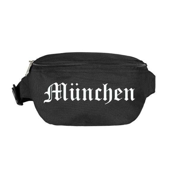 München Bauchtasche - Altdeutsch bedruckt - Gürteltasche Hipbag