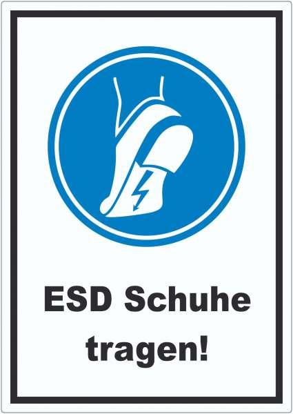 ESD Schuhe tragen Aufkleber Fußschutz gegen elektrostatische Aufladung