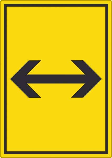 Richtungspfeil rechts links Aufkleber hochkant schwarz gelb Pfeil