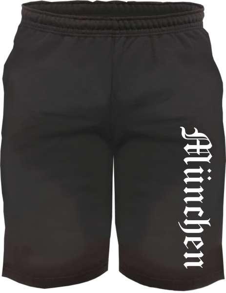 München Sweatshorts - Altdeutsch bedruckt - Kurze Hose Shorts