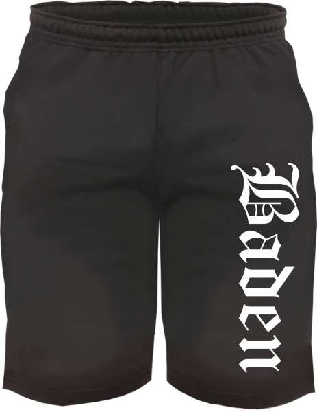 Baden Sweatshorts - Altdeutsch bedruckt - Kurze Hose Shorts