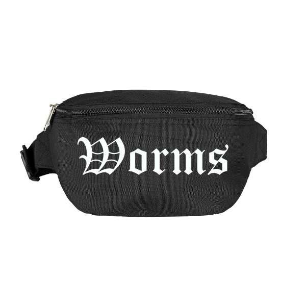 Worms Bauchtasche - Altdeutsch bedruckt - Gürteltasche Hipbag
