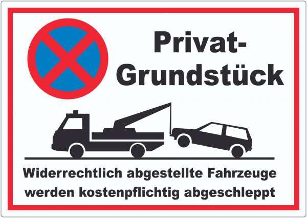 Parken verboten Privatgrundstück Aufkleber