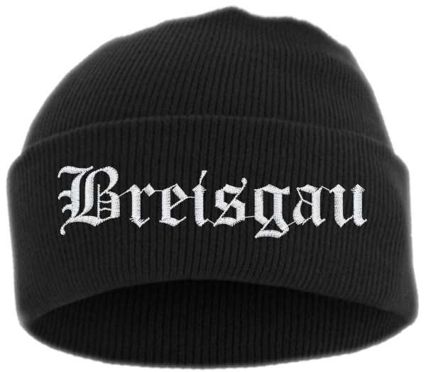Breisgau Umschlagmütze - Altdeutsch - Bestickt - Mütze mit breitem Umschlag