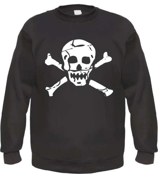Totenkopf Sweatshirt - bedruckt - Pullover