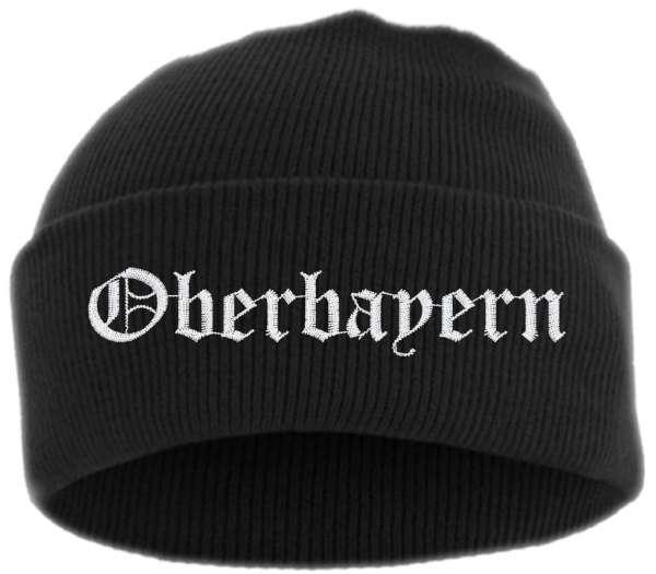 Oberbayern Umschlagmütze - Altdeutsch - Bestickt - Mütze mit breitem Umschlag