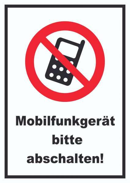 Handy aus Mobilfunkgerät abschaltenSchild