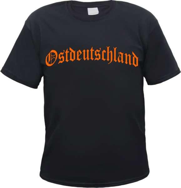 Ostdeutschland T-Shirt - Altdeutsch - Druckfarbe Orange - Tee Shirt