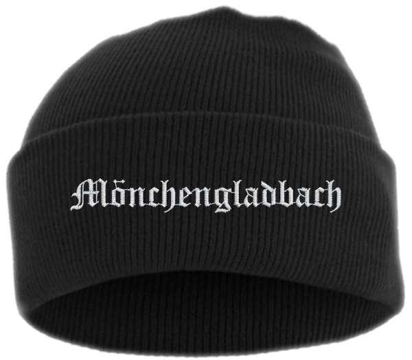 Mönchengladbach Umschlagmütze - Altdeutsch - Bestickt - Mütze mit breitem Umschlag