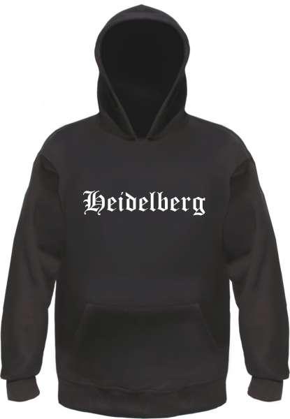 Heidelberg Kapuzensweatshirt - Altdeutsch bedruckt - Hoodie Kapuzenpullover