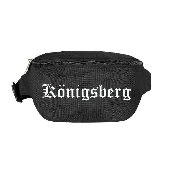 Königsberg Bauchtasche - Altdeutsch bedruckt - Gürteltasche Hipbag
