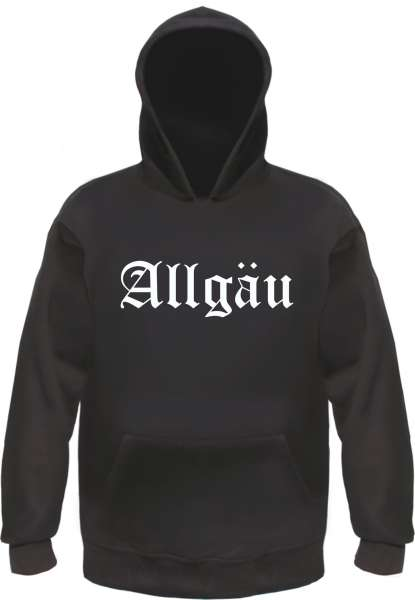 Allgäu Kapuzensweatshirt - Altdeutsch - bedruckt - Hoodie Kapuzenpullover