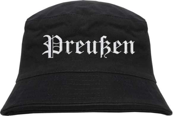 Preußen Fischerhut - Altdeutsch - bestickt - Bucket Hat Anglerhut Hut