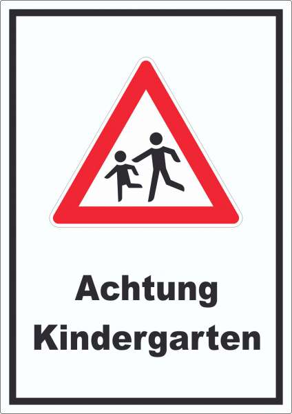 Achtung Kindergarten Aufkleber