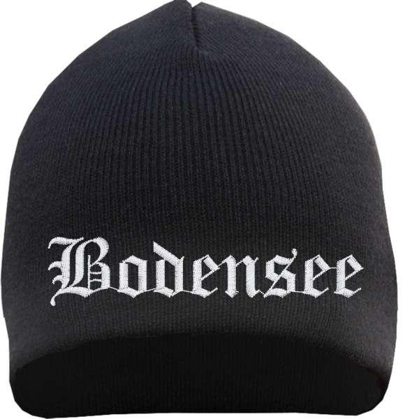 Bodensee Beanie Mütze - Altdeutsch - Bestickt - Strickmütze Wintermütze