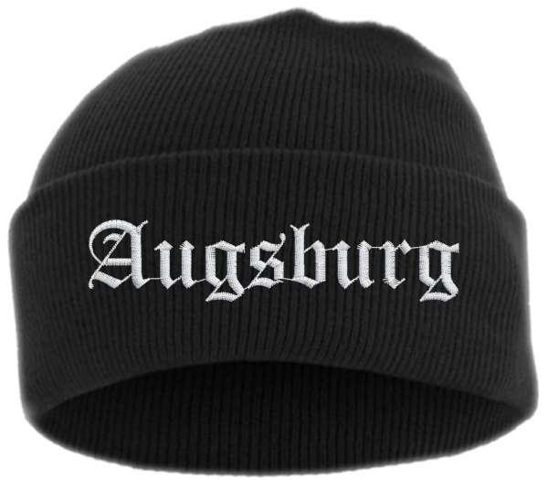 Augsburg Umschlagmütze - Altdeutsch - Bestickt - Mütze mit breitem Umschlag