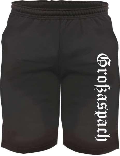 Großaspach Sweatshorts - Altdeutsch Bedruckt - Kurze Hose Shorts