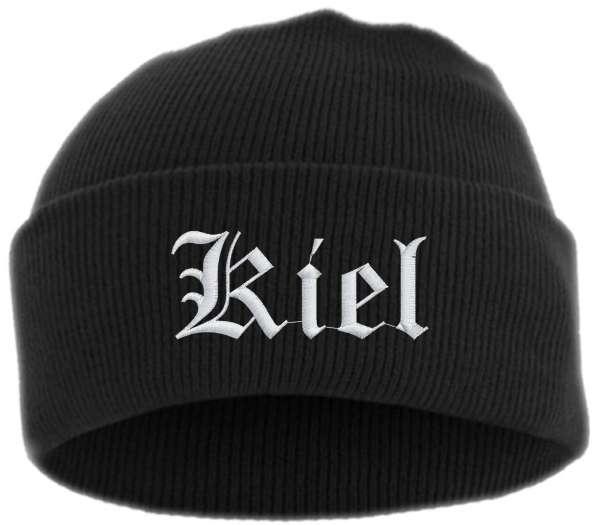 Kiel Umschlagmütze - Altdeutsch - Bestickt - Mütze mit breitem Umschlag