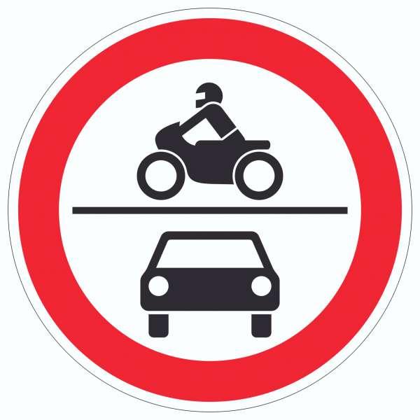 Durchfahrt verboten Krad und PKW Symbol Aufkleber Kreis