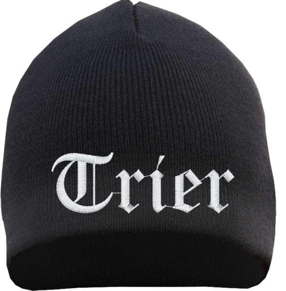 Trier Beanie Mütze - Altdeutsch - Bestickt - Strickmütze Wintermütze