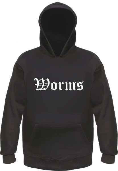 Worms Kapuzensweatshirt - Altdeutsch bedruckt - Hoodie Kapuzenpullover