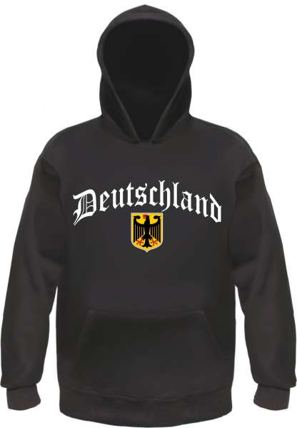 Deutschland Kapuzensweatshirt - Altdeutsch mit Wappen - Hoodie Kapuzenpullover