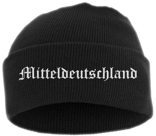 Mitteldeutschland Umschlagmütze - Altdeutsch - Bestickt - Mütze mit breitem Umschlag