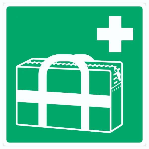 Medizinischer Notfallkoffer Symbol Aufkleber Quadrat