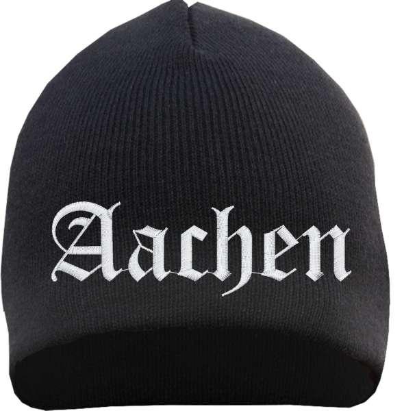 Aachen Beanie Mütze - Altdeutsch - Bestickt - Strickmütze Wintermütze