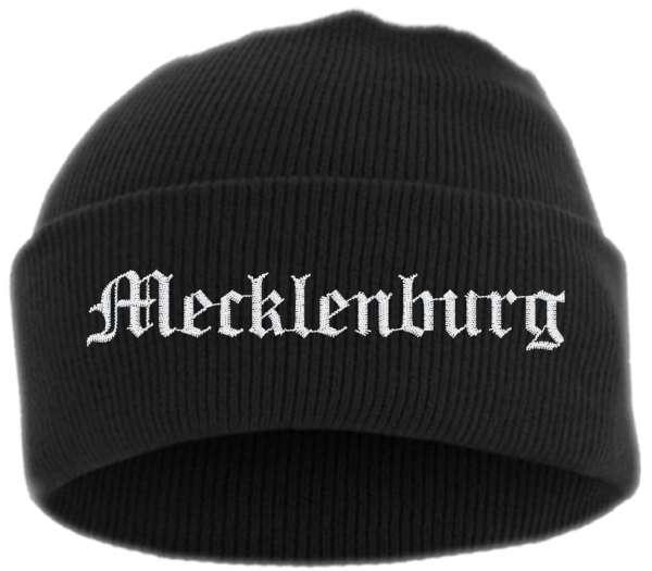 Mecklenburg Umschlagmütze - Altdeutsch - Bestickt - Mütze mit breitem Umschlag
