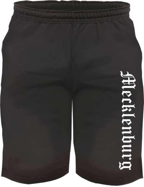 Mecklenburg Sweatshorts - Altdeutsch bedruckt - Kurze Hose Shorts