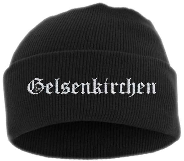 Gelsenkirchen Umschlagmütze - Altdeutsch - Bestickt - Mütze mit breitem Umschlag