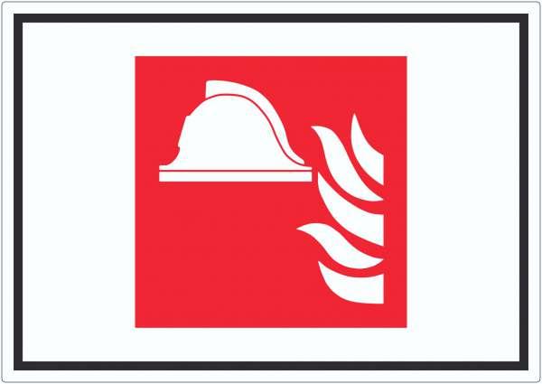 Mittel und Geräte zur Brandbekämpfung Symbol Aufkleber