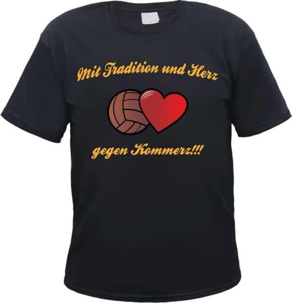 Mit Tradition und Herz Fussball T-Shirt