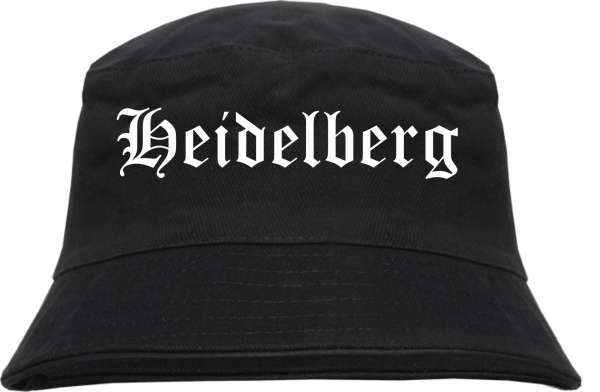 Heidelberg Fischerhut - Altdeutsch - bedruckt - Bucket Hat Anglerhut Hut