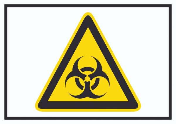 Achtung Biogefährdung Symbol Schild