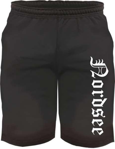Nordsee Sweatshorts - Altdeutsch bedruckt - Kurze Hose Shorts