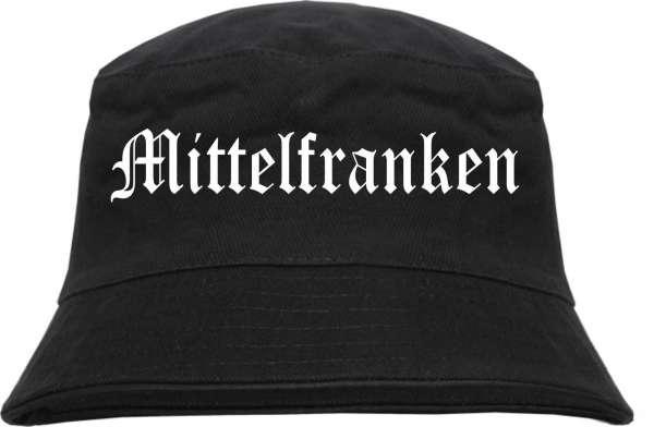 Mittelfranken Fischerhut - Altdeutsch - bedruckt - Bucket Hat Anglerhut Hut