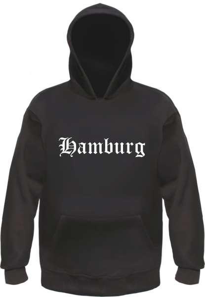 Hamburg Kapuzensweatshirt - Altdeutsch bedruckt - Hoodie Kapuzenpullover