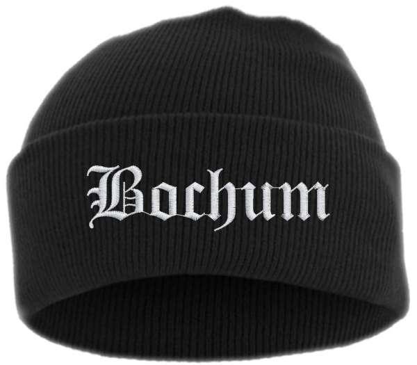 Bochum Umschlagmütze - Altdeutsch - Bestickt - Mütze mit breitem Umschlag