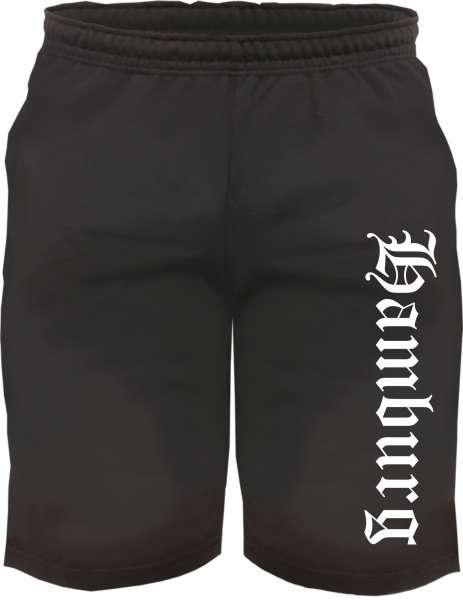 Hamburg Sweatshorts - Altdeutsch bedruckt - Kurze Hose Shorts